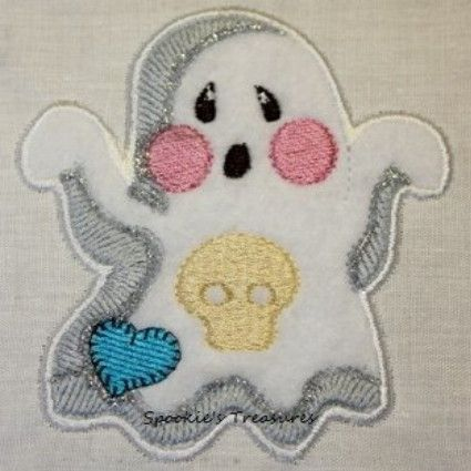 STE010_04  http://www.spookiestreasures.com/products/applique-little-ghost-4x4-3