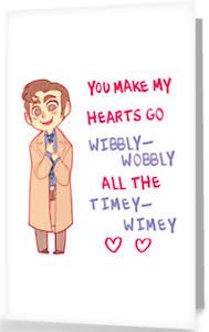 Give your valentine double the love this year with these adorable Doctor Who card!
