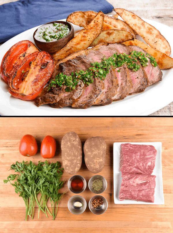 Chimichurri Steak With Roasted Potatoes