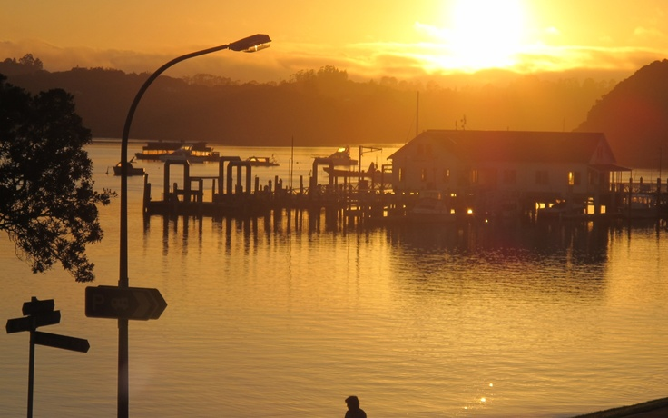 Sunset,  Paihia, North Island, New Zealand.