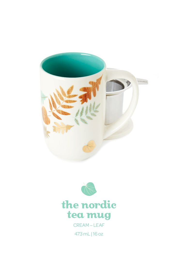 With its pretty gold leaf accents, this large-capacity mug is a real fall beauty.