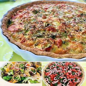 Foto: Sara B. Hansen. En dejlig madtærte med skønt fyld af sauteret grønkål, modne tomater samt skinke og emmentalerost. Sidste weeke...