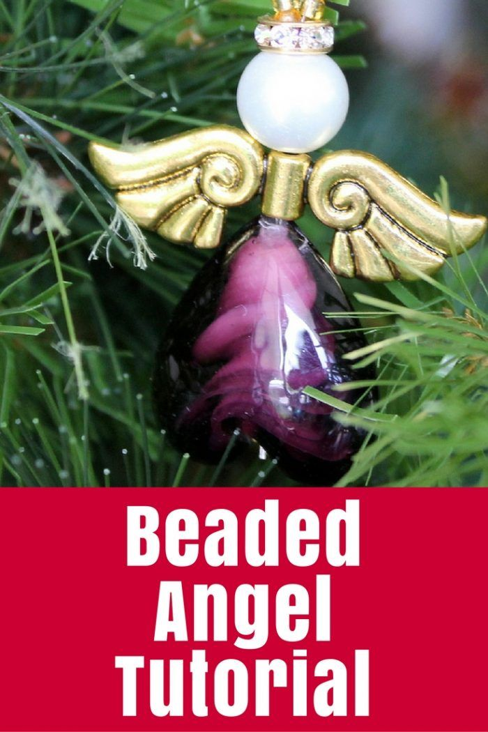 Beaded Angel Tutorial - This beaded angel is a quick ornament or gift to make with only a handful of beads including a gorgeous glass heart bead.   http://thecraftymummy.com/2013/12/beaded-angel-tutorial/
