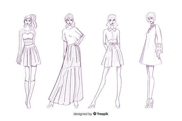 Fashion Sketch App Pret A Template Free Download Available On