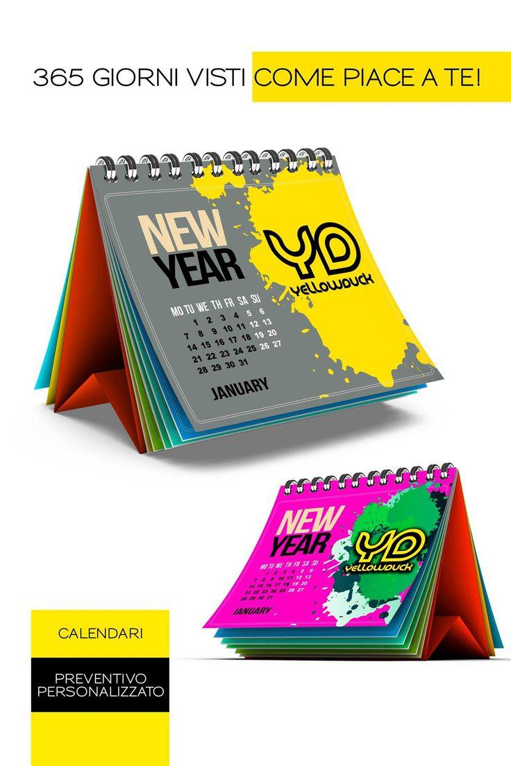 Voglia di farsi ricordare tutto l' anno??? Offerta per Natale 2015: 100 calendari da tavolo personalizzati con adesivo 90€ !!!!  calendari gadget natale2015 offerta promozione pubblicità calendario2016 calendari2016