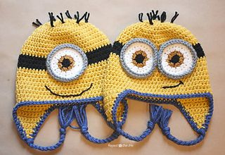 Crochet Minion Hat - free, ravelry. Repeat Crafter Me