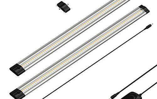 parlat LED luminaire sous meuble SIRIS, plat, par 50cm, 400lm, blanche-chaude, lot de 2: boîtier robuste avec un refroidissement passif…