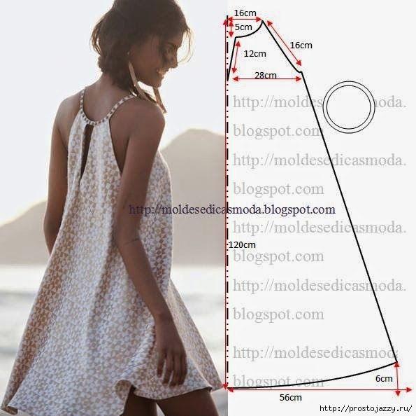 Летние платья - выкройки на любой вкус7 (595x594, 137Kb)