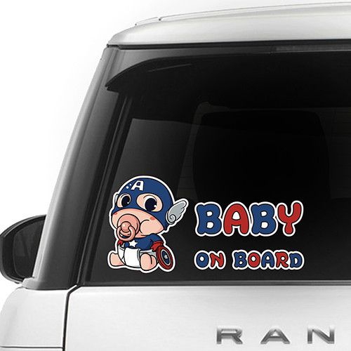 [ Captain America ] BABY ON BOARD SERIES FOR CAR $9.99 + Free Shipping   Awesome Gift for Baby Shower Decal Sticker Sign Vinyl Pregnancy Motherhood Maternity Newborn Expecting Birth Child Safety Little Princess in Car Present BIMBO A BORDO BÉBÉ À BORD BEBÉ A BORDO BABY AN BORD BEBÊ A BORDO