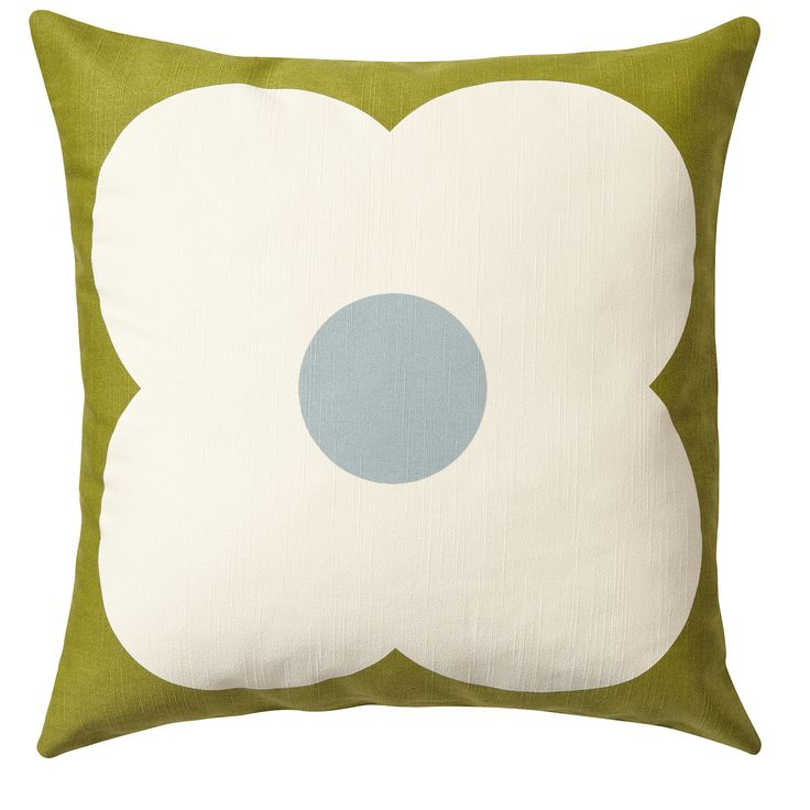 Orla Kiely: Giant Abacus cushion with zip to close. This bold print complements the Giant Abacus wallpaper and will brighten up any sofa! Wash as cotton; for further care instructions please see care label.