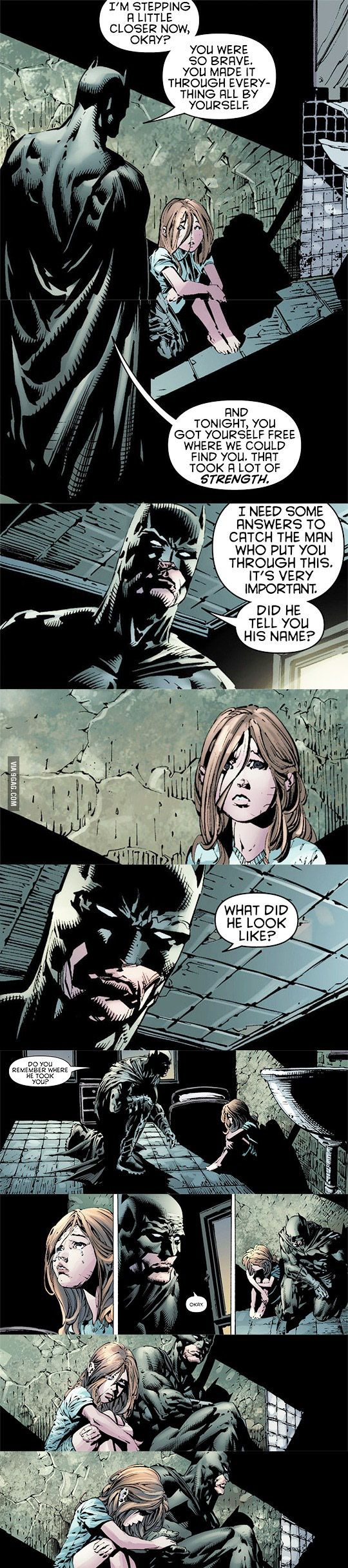 The Hand... it's awesome to see, people always forget that Bruce Wayne understands what it's like to lose that innocence