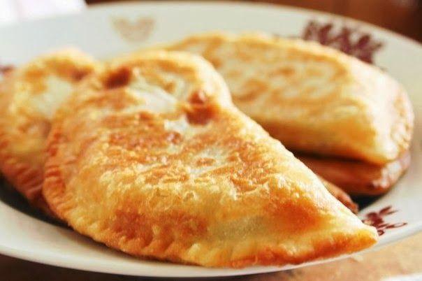 шеф-повар Одноклассники: Чебуреки с мясом. Очень удачное хрусткое тесто!