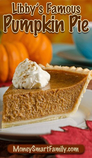 This is THE famous Libby's pumpkin pie recipe that's been on Libby's canned pumpkin label since 1950. It's our family favorite.