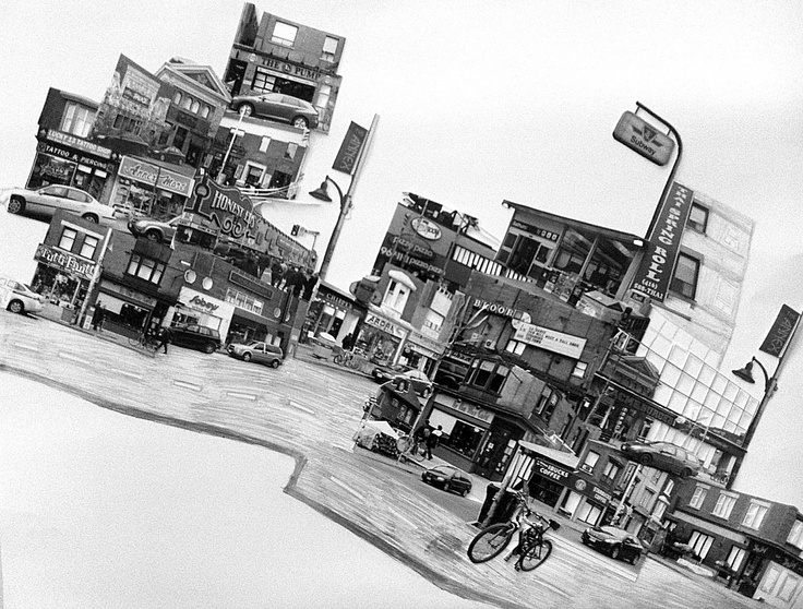 The Annex  Black and White Silver Print   Photomontage  22.5''X 28.5''  2012