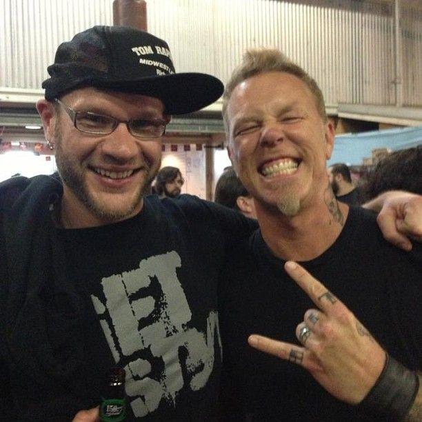 Adam from Killswitch Engage & James from Metallica