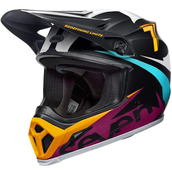 Bell Mx9 Mips Helmet Seven Ignite Aqua Maroon Black Helmet Motocross Helmets Bell Helmet