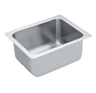 "View the Moen 22124 Commercial Sinks 19-3/8"" Single Basin Drop-In 18-Gauge Stainless Steel Bar Sink from the Commercial Sinks Collection at FaucetDirect.com."