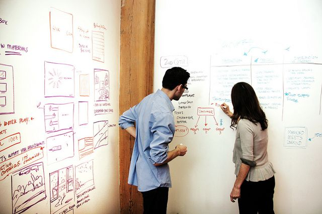 IdeaPaint dry erase walls in Chicago agency.