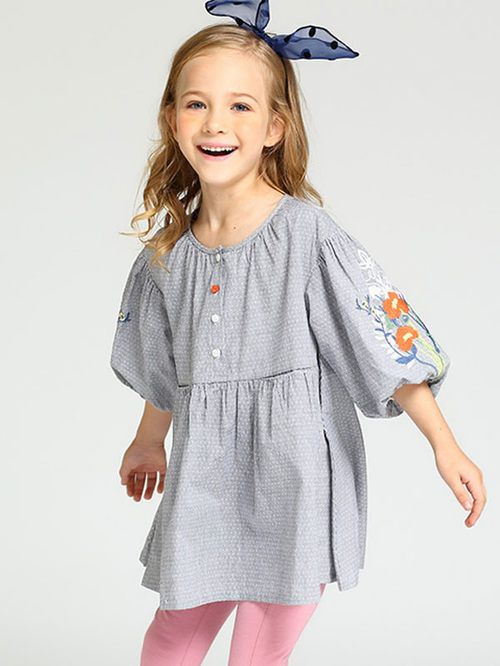 Cute Back to School 2017 Outfits for Teens: Embroidery 3/4 length Sleeves Strip Dress #backtoschool #jollyhers