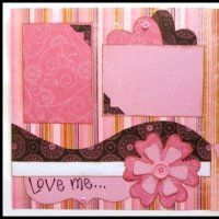 Love the layering with templates technique for scrapbooking!