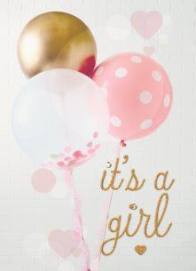It's a girl! #Hallmark #HallmarkNL #geboorte #geboortekaart #meisje #girl