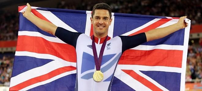 Great Britain's Mark Colbourne won the gold medal in the C1 3km individual pursuit -Day 2