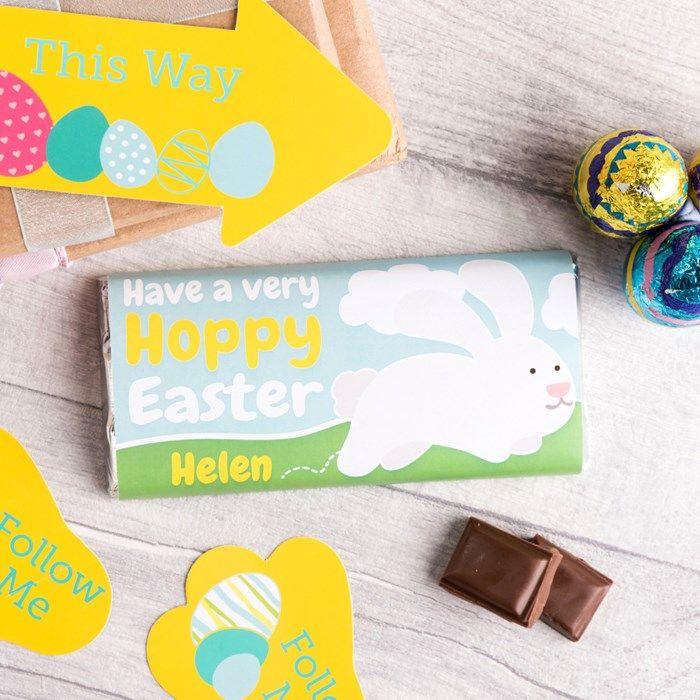 Personalised Chocolate Bar - Hoppy Easter | GettingPersonal.co.uk