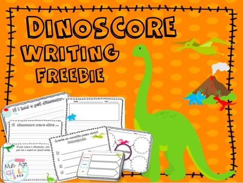Freebie Dinosaur Writing Prompts Paper Graphic
