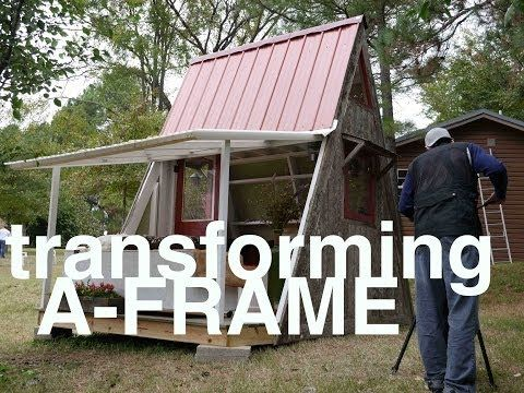 Deek's Transforming $1200 A-Frame Cabin and Plans (Tiny Vacation House) - YouTube