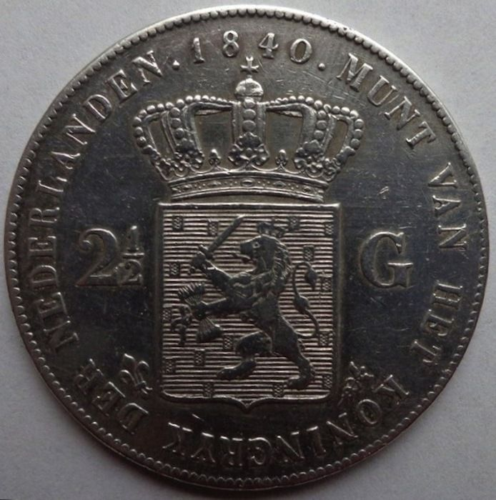 Nederlands - 2½ gulden 1840 Willem I