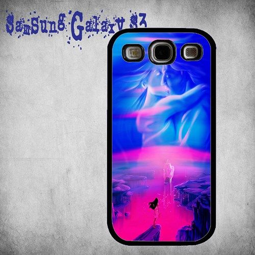Pocahontas Colors Of The Wind Print On Hard Plastic Samsung Galaxy S3, Black Case