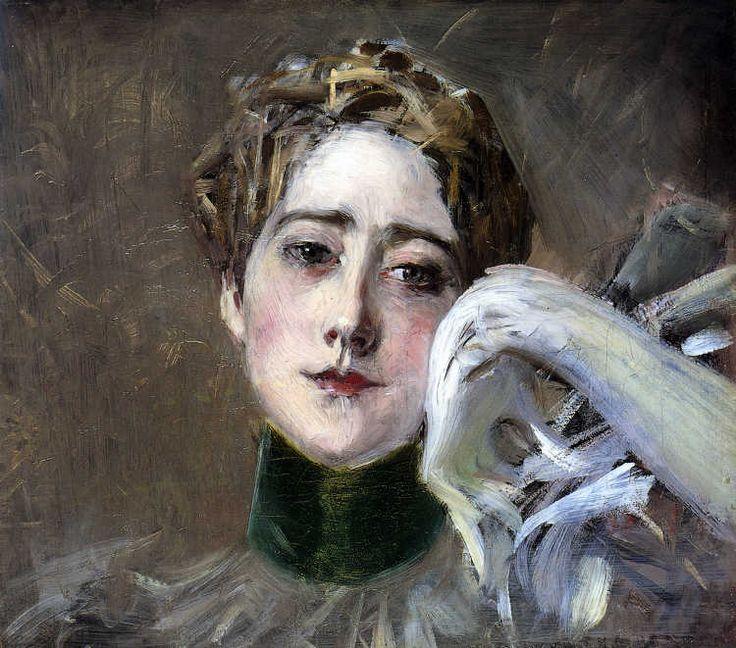 Giovanni Boldini, Ritratto di S.A.S. Principessa C. d'Isemburg-Birstein, 1896 circa, Olio su tela, 37 x 41 cm, Collezione privata