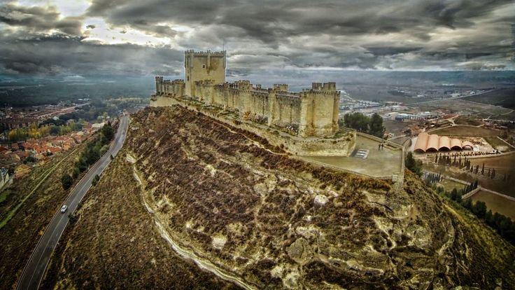 Castillo Peñafiel  a vista de GOPRO