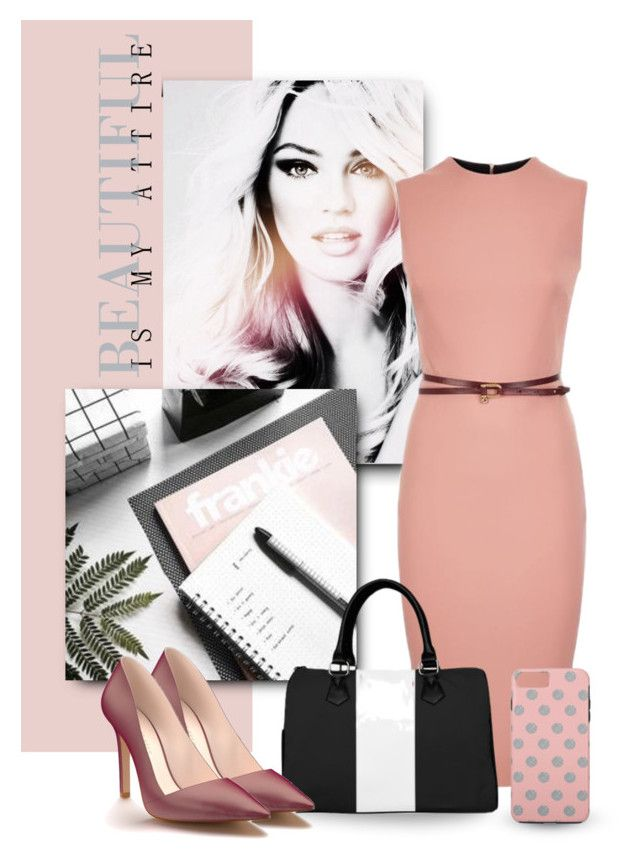 Soft & Airy Office Attire by colormegirly on Polyvore featuring Victoria Beckham, Shoes of Prey, handbags, fashionset and polyvoreset