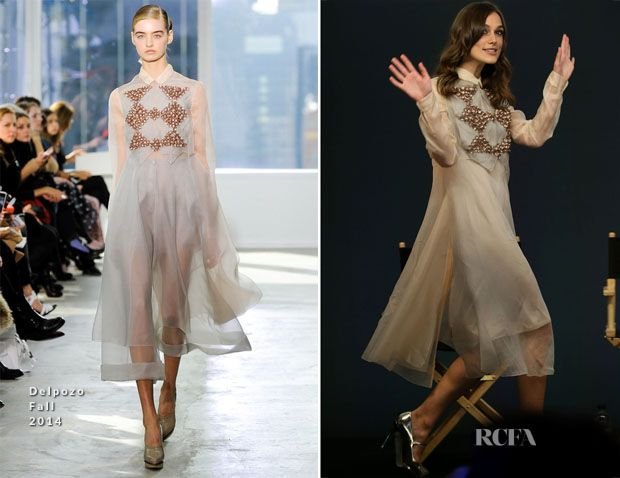 Keira Knightley In Delpozo – Meet The Cast: 'Begin Again'