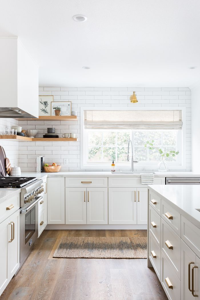 This Stunning All White Kitchen Renovation Was Totally Worth The 100k White Kitchen Renovation Kitchen Renovation Modern Kitchen
