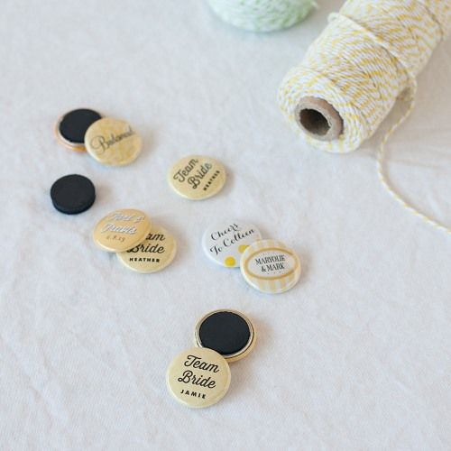 Assorted Personalized Button Magnets