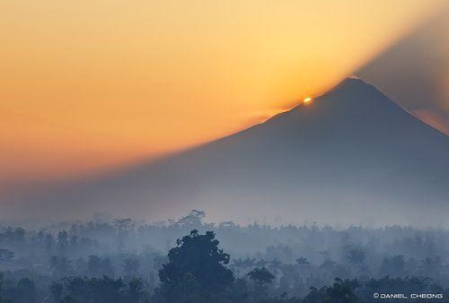 Mt. Merapi Sunrise - Java, Indonesia | by © DanielKHC | via landscapelifescape