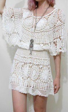 delicate crochet dress