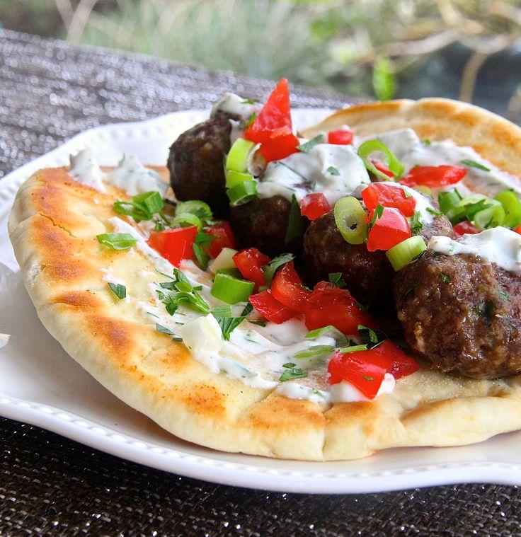 Mediterranean Kitchen Kirkland: Mediterranean Beef Meatball Kabob #ItsWhatsForDinner #beef