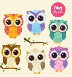 Owl Cartoon on Pinterest | Owl Clip Art, Colorful Owl and Owl ...