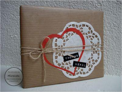 Miranda's Creaties: Cadeautje inpakken #2: Bruiloft