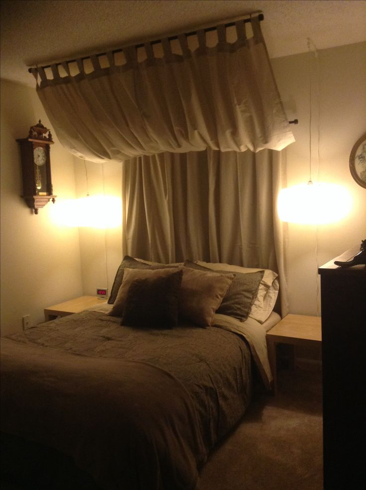 pinspiration curtain headboard bed room ideas