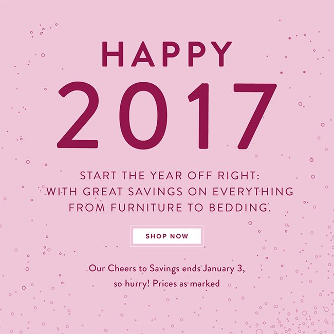 Happy New Year 2017 - One Kings Lane Gift Newsletter/Email