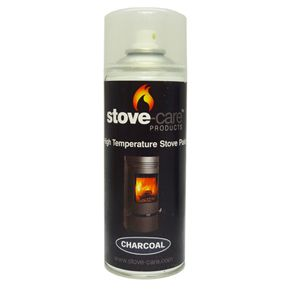 Stove-Care Spray Paint (400ml aerosol) - Charcoal (single) - Stove-Care spray paint is a high quality fast drying, high temperature paint for use on wood, multi-fuel and gas stoves, furnaces, traditional cast iron cookers, cast iron chimineas and many other steel and cast iron products with in-service temperatures to 650°C. 400ml aerosol.