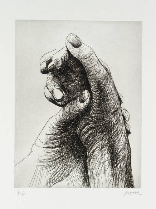 Henry Moore - The Artist's Hands, 1979