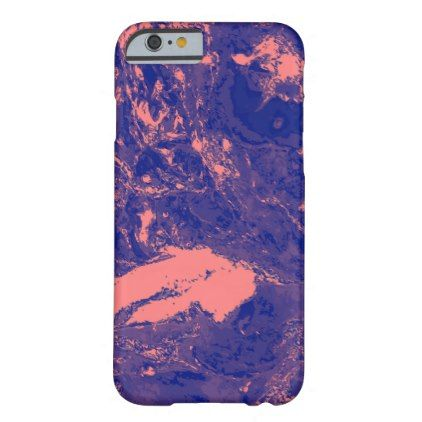 #Purple and Orange Marble texture Liquid paint art Barely There iPhone 6 Case - #girly #iphone #cases