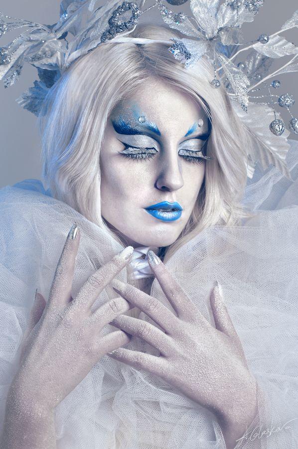 Halloween Schminke inspiriert von der Eiskönigin