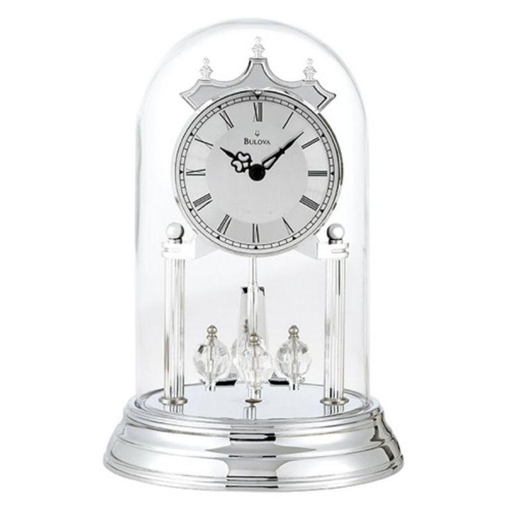 Bulova Tristan II Silver Anniversary Clock - B8819