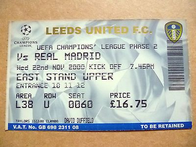 #Ticket- uefa champions league phase 2- leeds #united v real #madrid, 22 nov 2000,  View more on the LINK: 	http://www.zeppy.io/product/gb/2/162373760645/